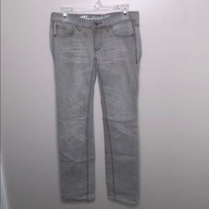 Madewell Rail Straight Gray Light Wash Jeans